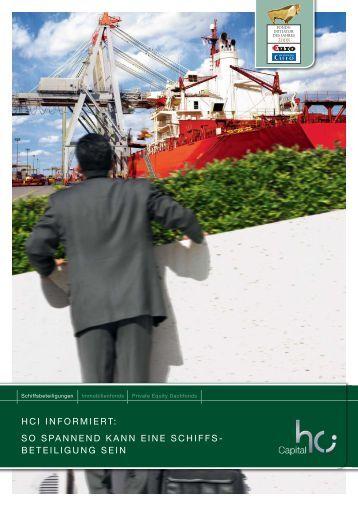 So spannend kann eine Schiffsbeteiligung sein - HCI