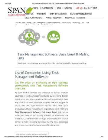 Get Targeted Task Management Software User Lists from Span Global Services