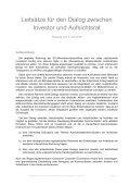 Leitsätze für den Dialog zwischen Investor und Aufsichtsrat - Seite 2