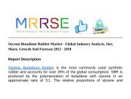 Styrene Butadiene Rubber Market - Global Industry Analysis, Size, Share, Growth And Forecast 2012 - 2018