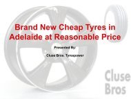 Brand New Cheap Tyres in Adelaide at Reasonable Price