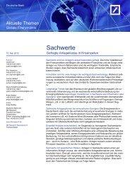 Sachwerte - Deutsche Bank Research