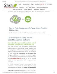 Get Targeted List of Source Code Management Software Customer Lists from Span Global Services