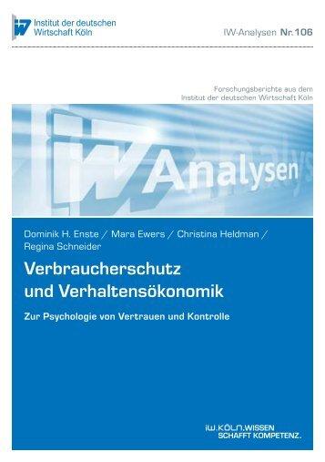 Verbraucherschutz und Verhaltensökonomik