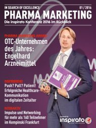 Sonderheft PHARMA MARKETING 2016