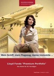 Lloyd Fonds ÇPremium PortfolioÈ Mein Schiff, mein Flugzeug - Scope