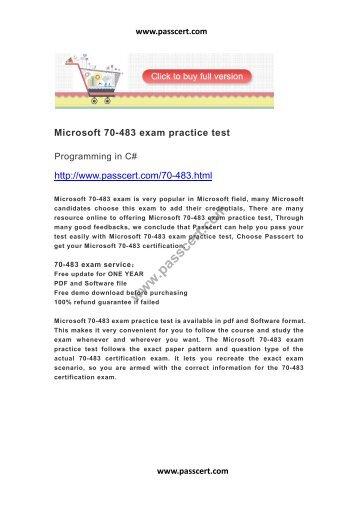 Microsoft 70-483 exam practice test
