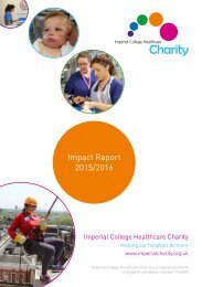 Imperial College Healthcare Charity Impact report 2015/2016
