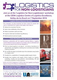 Logistics for Non-Logistician Flyer