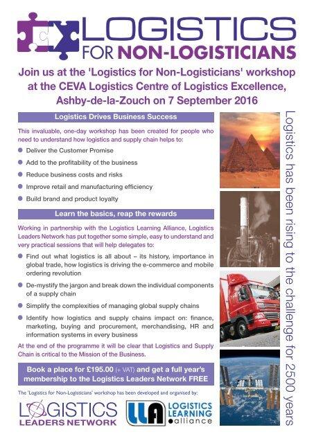 Logistics for Non-Logistician Flyer