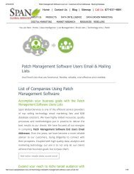 Buy Patch Management Software User Lists from Span Global Services