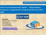 Global Snack Food Manufacturing Market size, Dynamics 2020 by smr