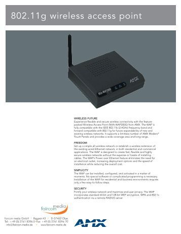 802.11g wireless access point - faircom media GmbH