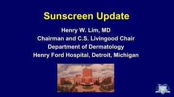 Sunscreen Update