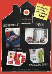 Les Ateliers du Linge Mini Catalogue Automne-Hiver 2015