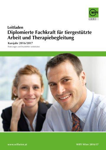 Leitfaden: Diplomierte Fachkraft für tiergestützte Arbeit und Therapiebegleitung