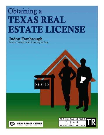 Obtaining a Texas Real Estate License