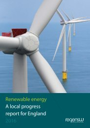 Renewable energy A local progress report for England 2016