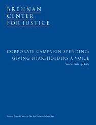 Corporate Campaign Spending: giving ShareholderS a voiCe