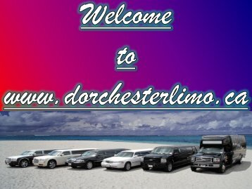 Limousine Service at Dorchester Limo