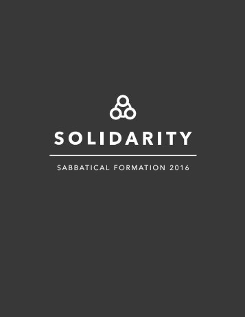 SABBATICAL FORMATION 2016