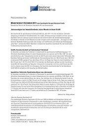PRESSEINFORMATION Jahresendspurt bei Immobilienfonds, keine ...