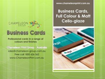 Business Cards, Full Colour & Matt Cello-glaze