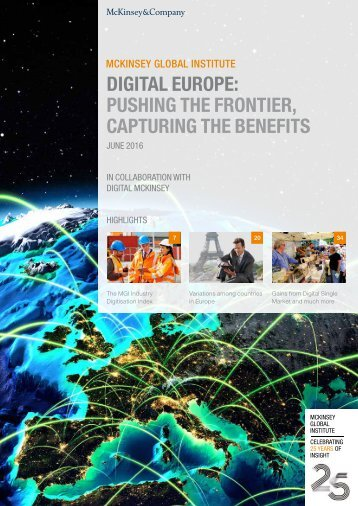 DIGITAL EUROPE PUSHING THE FRONTIER CAPTURING THE BENEFITS