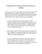 Finding Great Deals On Student Loans For College - Page 2