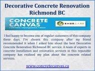 Decorative Concrete Renovation Richmond BC