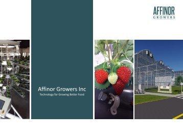 Affinor Growers Inc