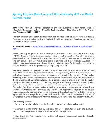 Specialty_Enzymes_Market_to_exceed_USD_4_Billion_by_2020_-_by_Market_Research_Engine