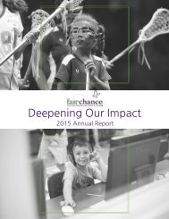Fair Chance Annual Report 2015