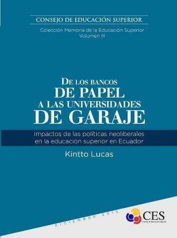 DE LOS BANCOS DE PAPEL A LAS UNIVERSIDADES DE GARAJE