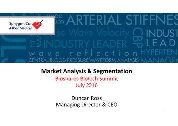 Market Analysis & Segmentation