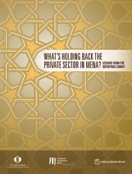WHAT'S HOLDING BACK THE PRIVATE SECTOR IN MENA?