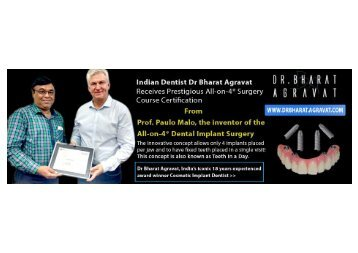 Indian Dentist Bharat Agravat Received Prestigious All-on-4®