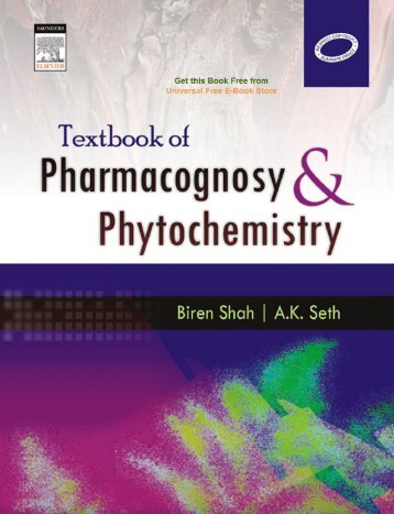 Textbook of pharmacognosy and phytochemistry 1st Edition unsecured