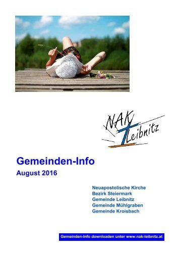 Gemeinden-Info August-September 2016