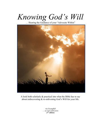 Knowing God's Will (3rd edition)