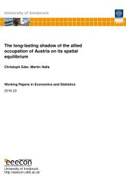 occupation of Austria on its spatial equilibrium