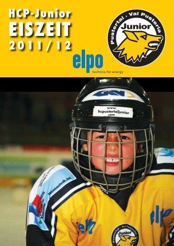 HC Junior Eiszeit 2011/12.indd - elpo HC PUSTERTAL Junior