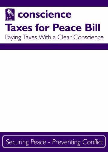 conscience Taxes for Peace Bill