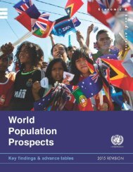 World Population Prospects The 2015 Revision