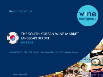 THE SOUTH KOREAN WINE MARKET