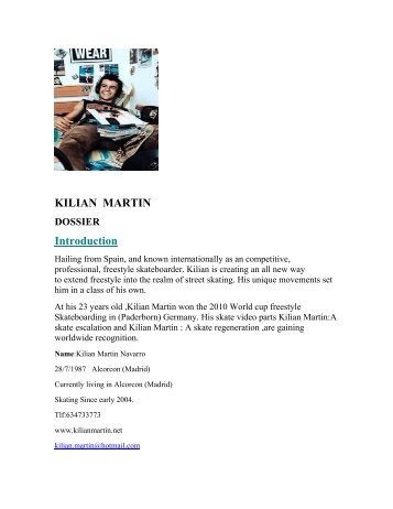 KILIAN MARTIN DOSSIER Introduction - ImageShack