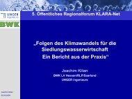 """""""Folgen des Klimawandels für die ... - KLARA-Net"""