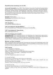 Protokoll der Konventssitzung vom 19.1.2011 Anwesende ...