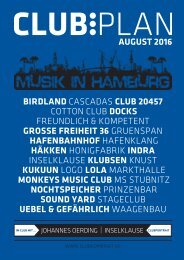 Clubplan Hamburg - August 2016