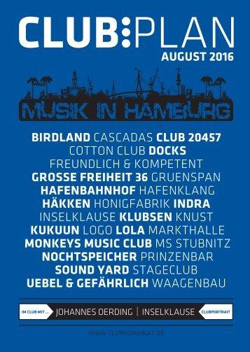 Clubplan Hamburg - August 2016